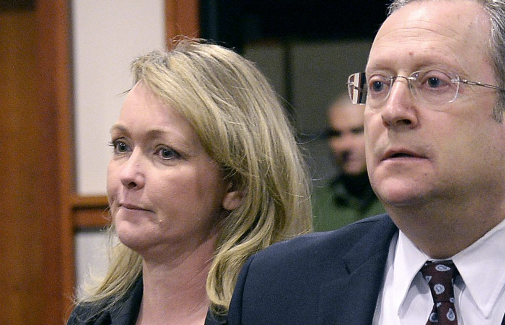 Shannon Bard appears in the Cumberland County Courthouse Tuesday with her lawyer Stephen Schwartz.