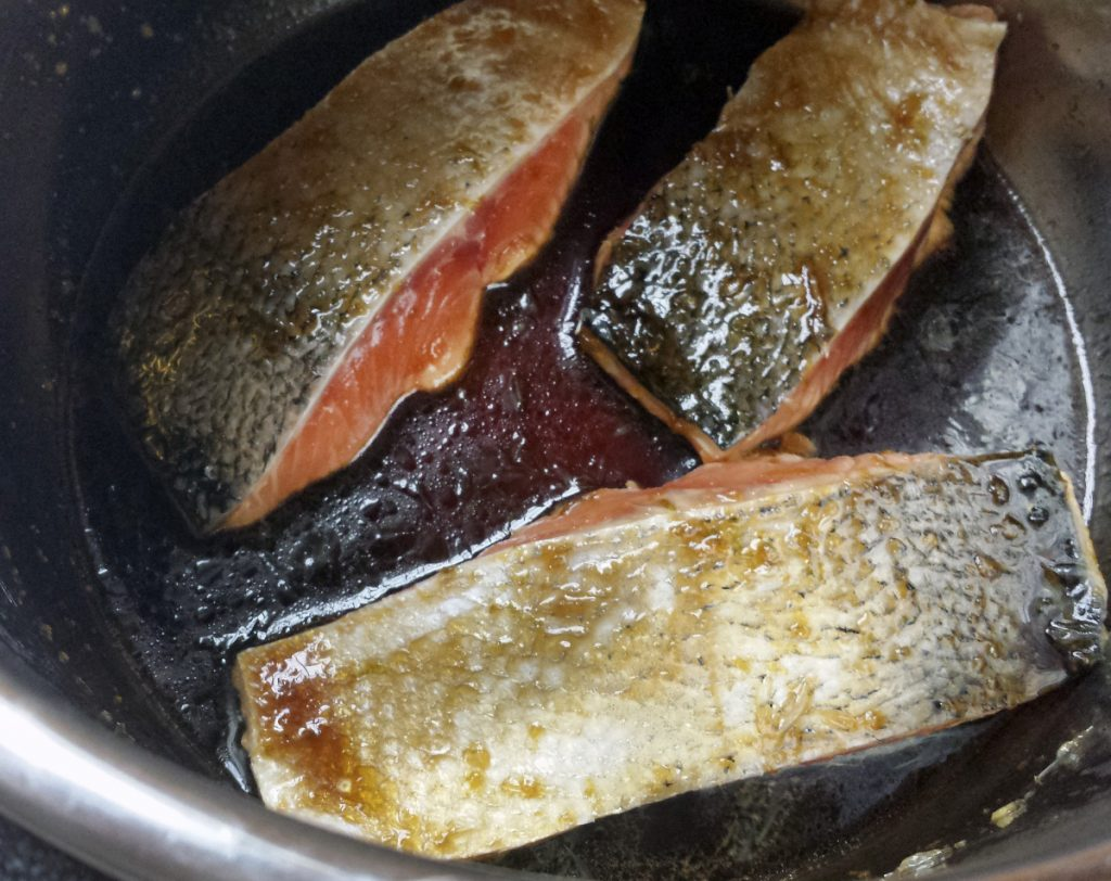 Salmon stays succulent cooked in the Instant Pot.