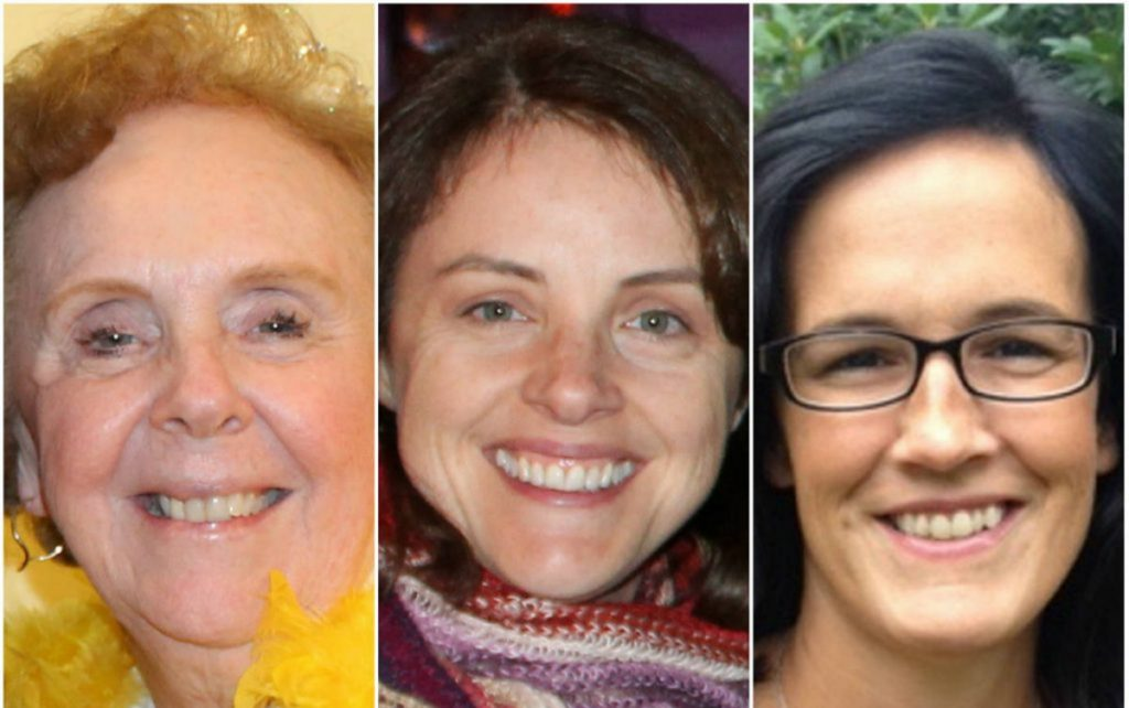 Recalled Scarborough school board members, from left, Donna Beeley, Cari Lyford and Jodi Shea won't be replaced until November's election, board members decided Tuesday night.