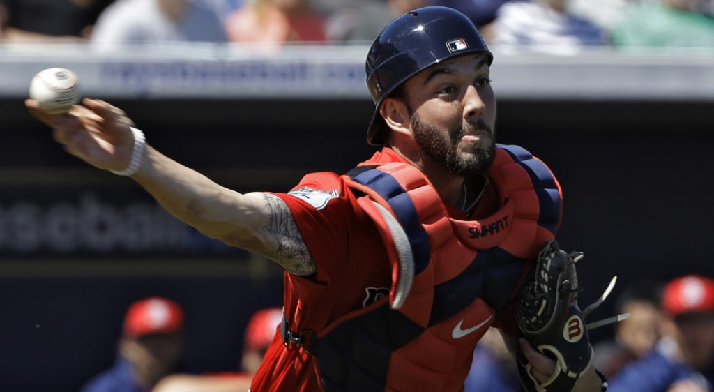 Blake Swihart of the Boston Red Sox can catch. He also can play left field. And third base. And first base. But getting him into games after a strong spring training will prove a challenge for Manager Alex Cora, who has regulars and backups in all those positions.