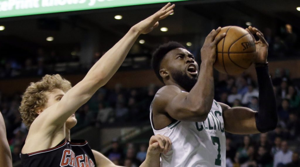Jaylen Brown led the Celtics with a career-high 32 points in Friday's 111-104 win over the Bulls. It's the kind of big performance Boston will need from Brown and Jayson Tatum to make a push in the upcoming playoffs.