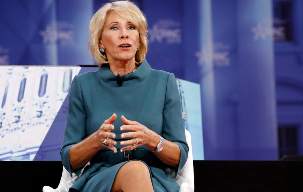 Education Secretary Betsy DeVos has attempted to help for-profit colleges by freezing Obama-era rules and hiring industry insiders but enrollment continues to decline.