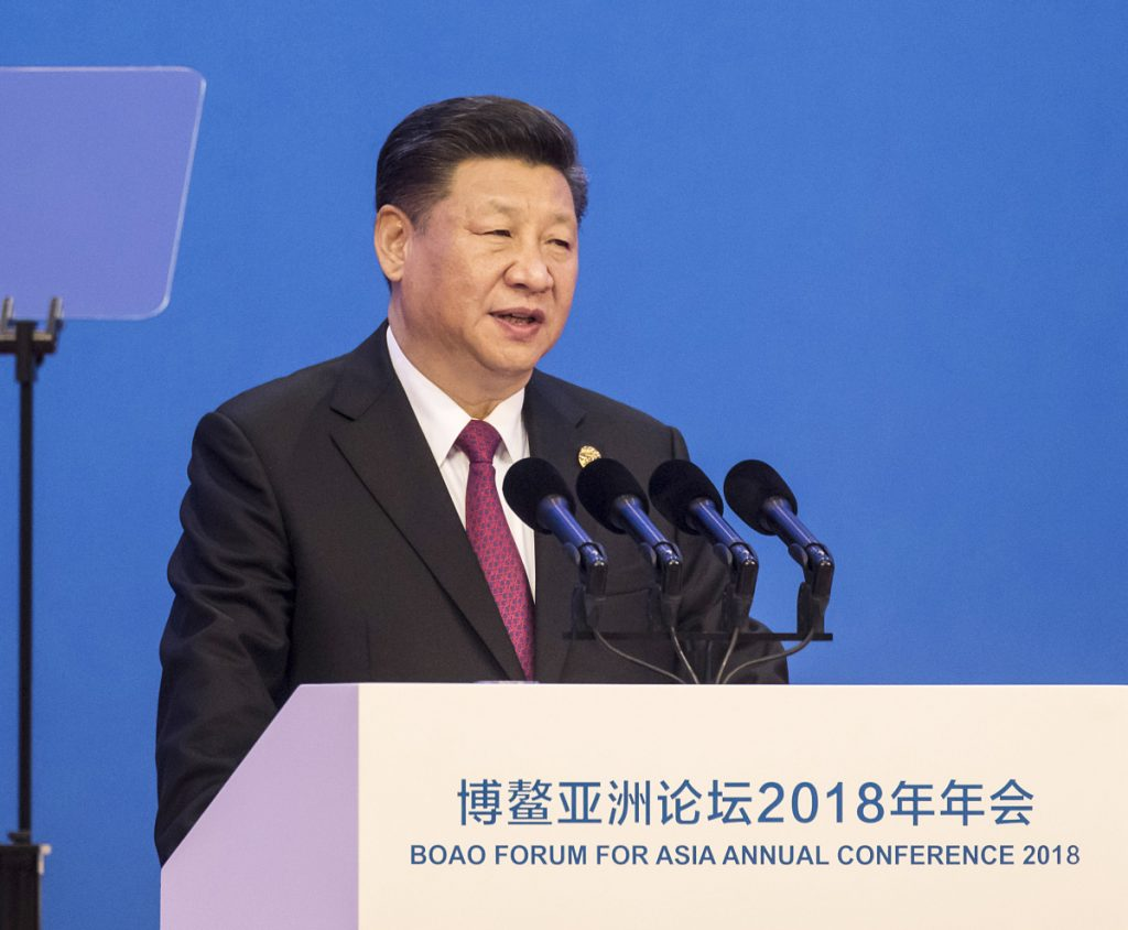 "Chinese President Xi Jinping told the Boao Forum for Asia Annual Conference in Boao, China, on Tuesday that ""human society is facing a major choice to open or close, to go forward or backward."""