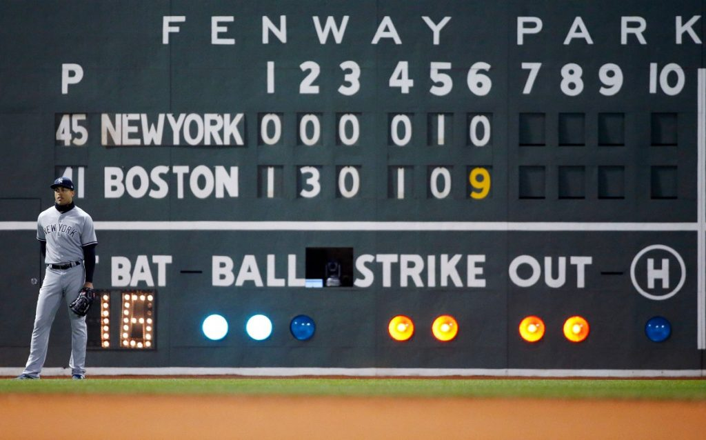 The Red Sox gave the Yankees a pounding Tuesday night at Fenway Park. They already had a 5-1 lead going to the bottom of the sixth, then tacked on nine runs to add to the shellacking in the first meeting of the season between the two AL East rivals.