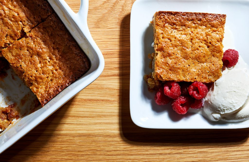 Warm Blondie Pudding Cake