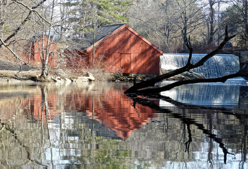 The alewife shanties at Nequasset Dam are used by fishermen in the spring and, like its counterpart in Massachusetts, is splendid for its simple splendor. Adult alewives are especially important because they are used as bait for lobsters in the spring.