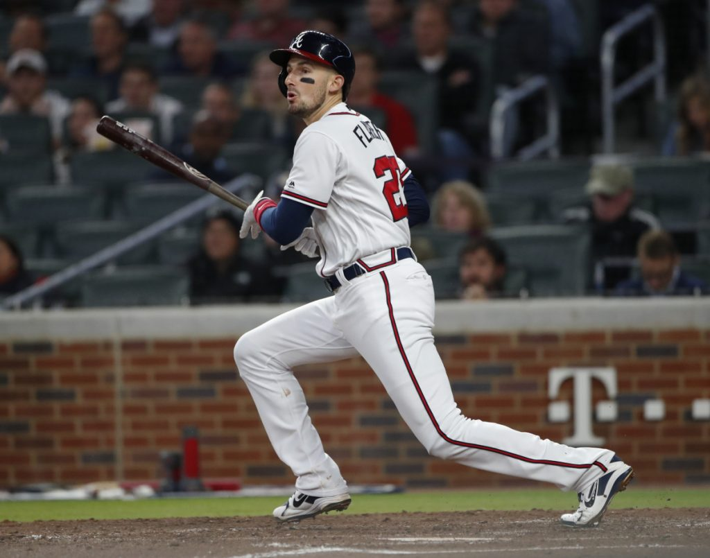 Associated Press/John Bazemore Ryan Flaherty, despite being signed by the Braves just three days before Opening Day, has become the team's regular third baseman and is hitting .362 with a .964 OPS.