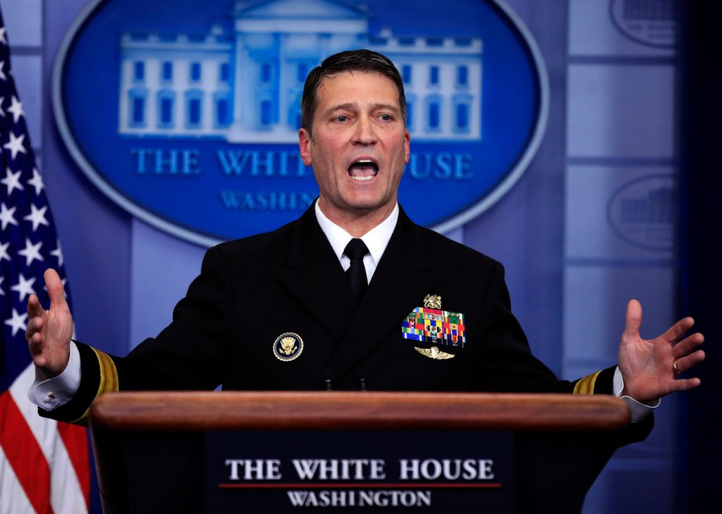 White House physician Dr. Ronny Jackson, who served as physician to Presidents George W. Bush, Barack Obama and now Donald Trump, is an Iraq War veteran nominated to head the Department of Veterans Affairs.