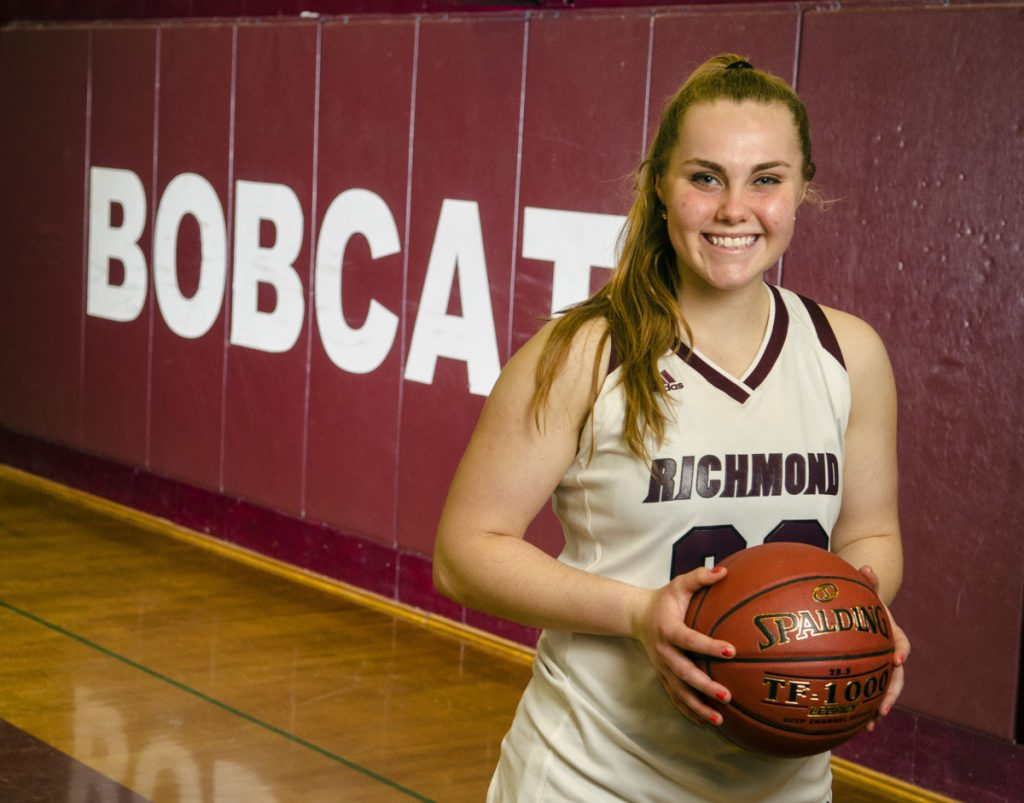 Richmond's Sydney Underhill-Tilton is the Kennebec Journal Girls Basketball Player of the Year.