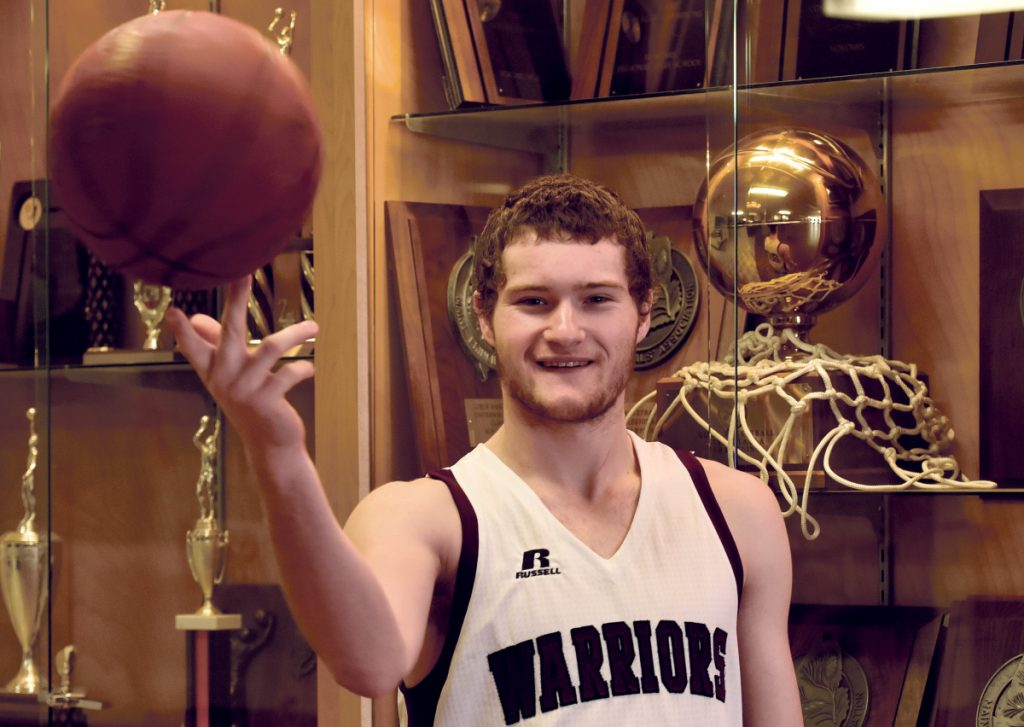 Nokomis senior Zach Hartsgrove is the Morning Sentinel Boys Basketball Player of the Year.