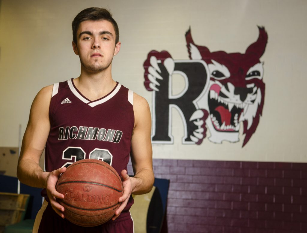 Richmond senior Zach Small is the Kennebec Journal Boys Basketball Player of the Year.