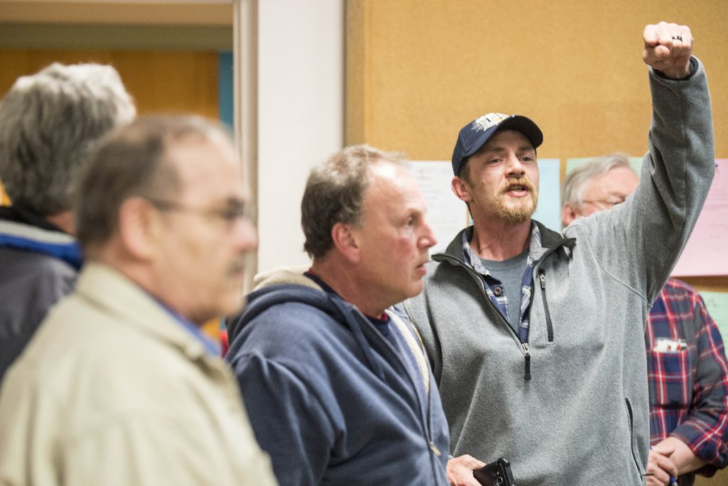 Angry Waterville residents yell at the City Council on Tuesday night after their support for Ward 5 council candidate Julian Payne proved ineffective. The council elected former Councilor John O'Donnell to fill the seat.