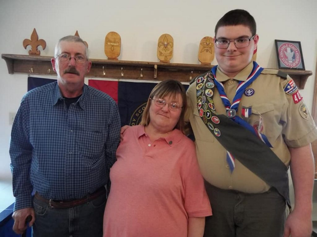 Robert W. and Dixie Ring with their son, Eagle Scout Tyler Robert Ring.