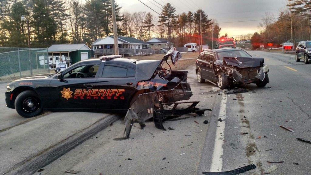 Kennebec sheriff's deputy injured after car rear-ends ...