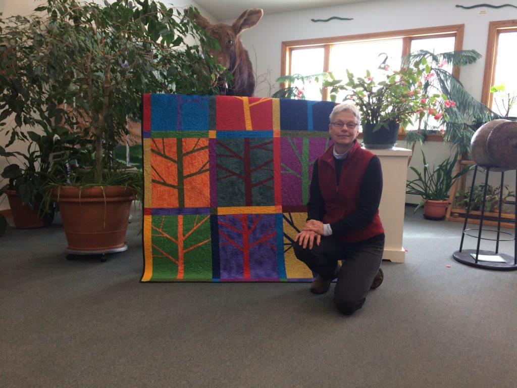 Hillary Schultz is the winner of the Seam Strippers Quilt that supports Viles Arboretum.