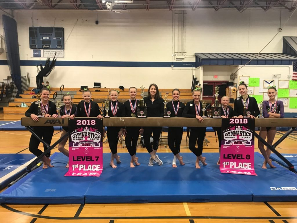 Ten gymnasts from the Waterville YMCA recently qualified for the Region 6 meet in Springfield, Massachusetts. The team members are from left to right: Abbey Prescott, Madison Chamberlain, Autumn Everett, Emma Markowitz, Averi Beaudoin, Sara Bowman (injured), Maddy Russ, Erin Fontaine, Mylee Grant, Amelia Charland and Reed Gulden.