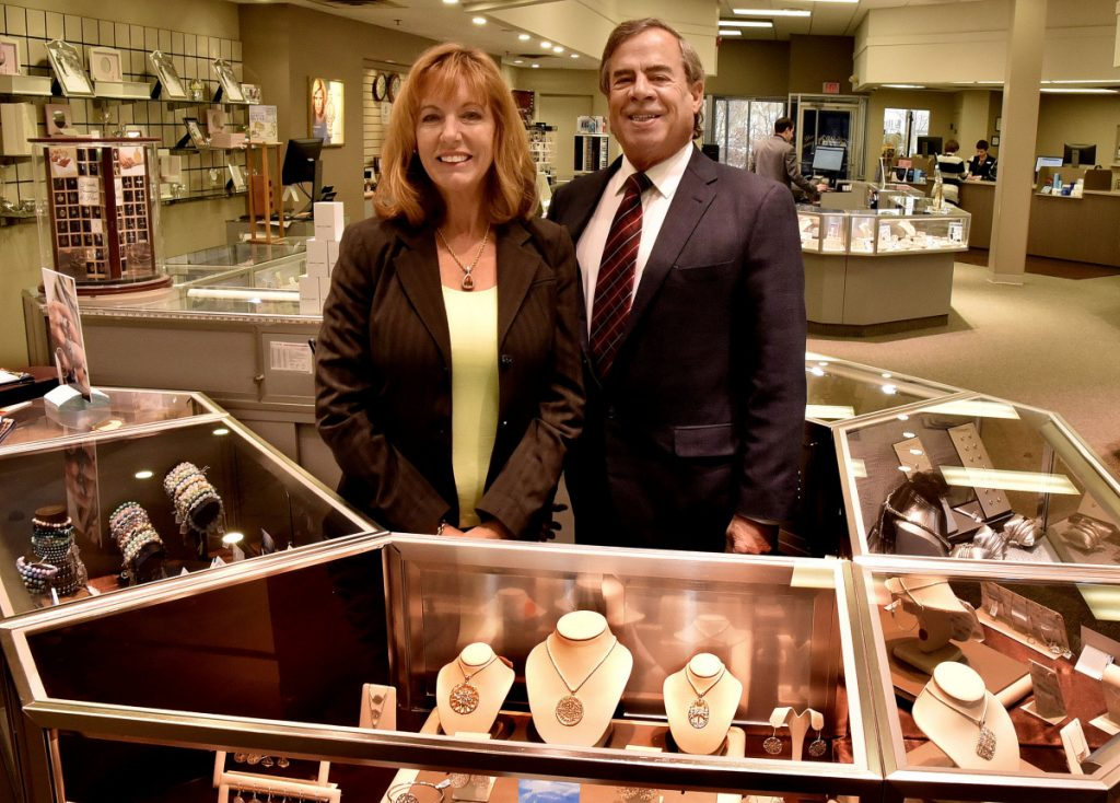 Day's Jewelers owners Kathy and Jeff Corey have received the Mid-Maine Chamber of Commerce Distinguished Community Service Award.