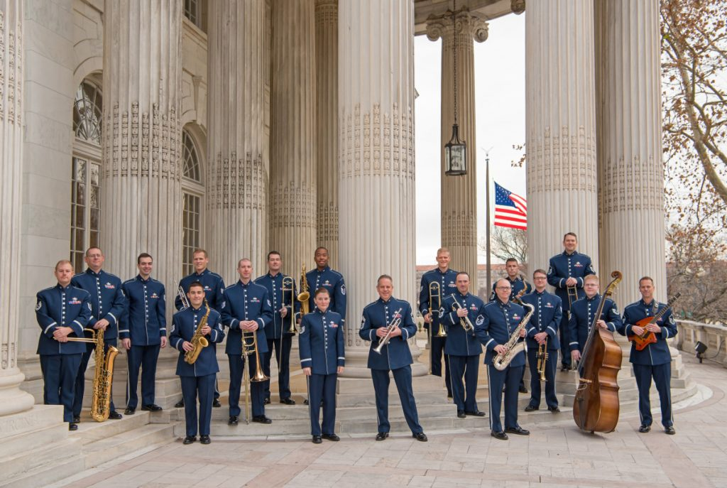 The Air Force's 18-member jazz ensemble is scheduled to perform at 7 p.m. Tuesday at Cony High School.