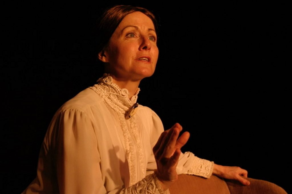 "Ginger Grace as Emily Dickinson in ""A Belle of Amherst."""