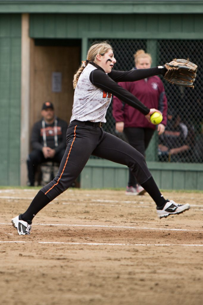 Winslow pitcher Broghan Gagnon delivers a pitch during a game against Nokomis on Friday at Winslow.