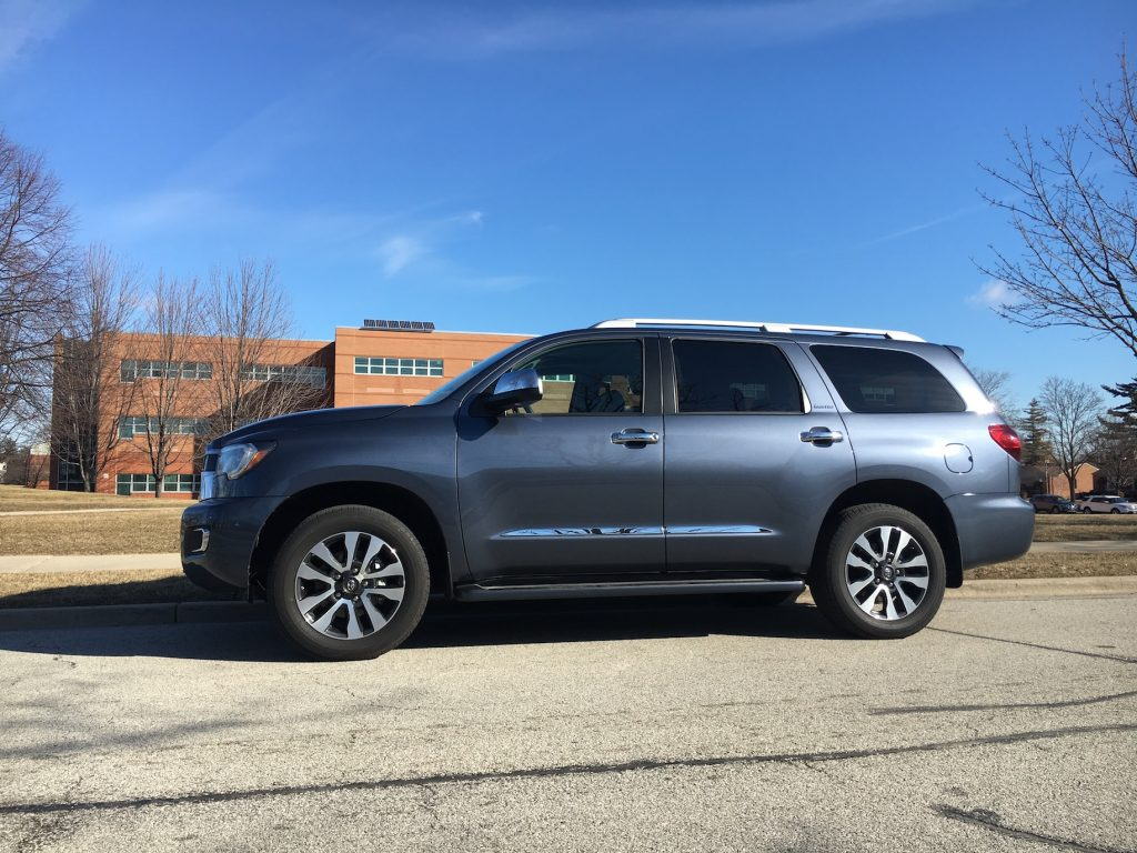 The refreshed 2018 Toyota Sequoia is essentially a technology update to the full-size three-row SUV last redesigned for 2008.