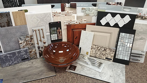 HomeStyle Kitchens and Baths, Inc. is a one-stop-shop to put products such as cabinet doors, countertop samples, flooring, tile backsplash, sinks, faucets, lighting and hardware together and create your design portfolio. Contributed photo from HomeStyle Kitchen and Bath