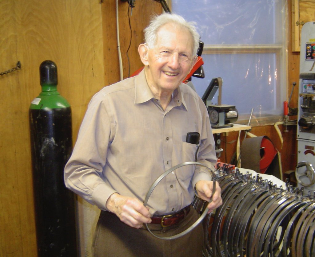 Irving Isaacson was also a talented metalworker and blacksmith for nearly all his adult life. He stopped blacksmithing at age 95 when hammering hot metal, brass and copper became too hazardous.
