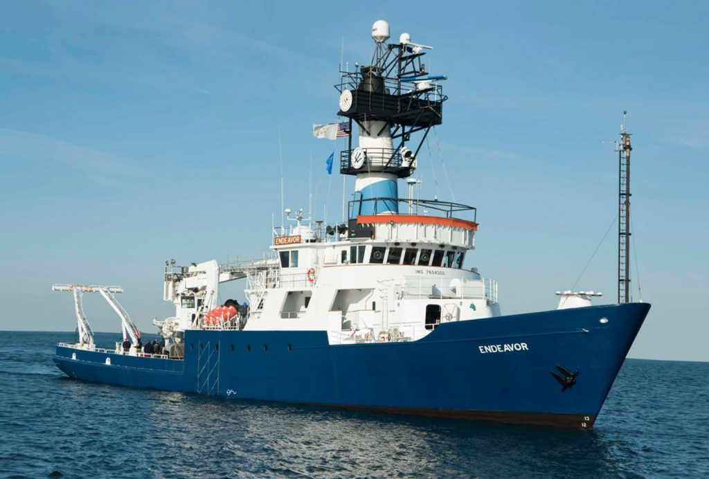 A New England consortium of oceanographers is applying to operate a new research vessel. The University of Rhode Island currently operates the Endeavor, which is 41 years old.