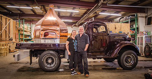 The Bardens at Maine Wood Heat Co. Inc. Skowhegan, with one of their beautiful mobile ovens. Maine Wood Heat contributed photos