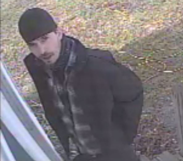 A suspect in Wednesday's home invasion on Park Lane in Greene is captured in a surveillance photo.