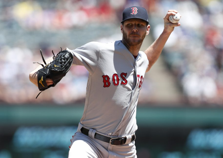 Chris Sale recorded a season-high 12 strikeouts Sunday against the Texas Rangers while allowing just four hits in seven innings, helping the Red Sox post a 6-1 win.