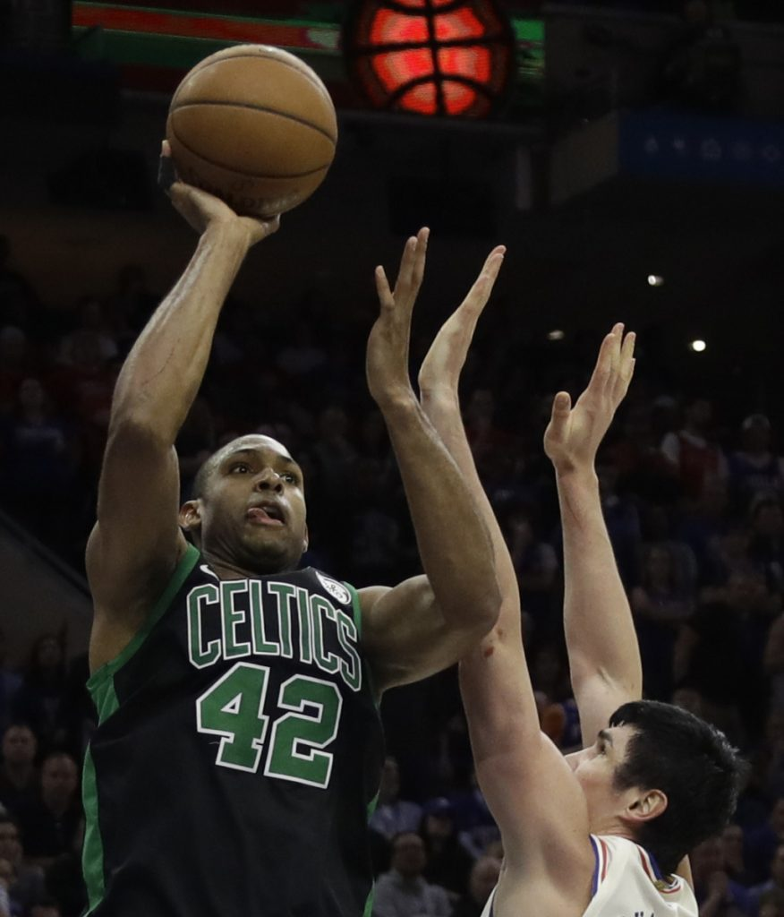 Al Horford didn't have an impact in the first half Saturday, but was head and shoulders above when it counted.