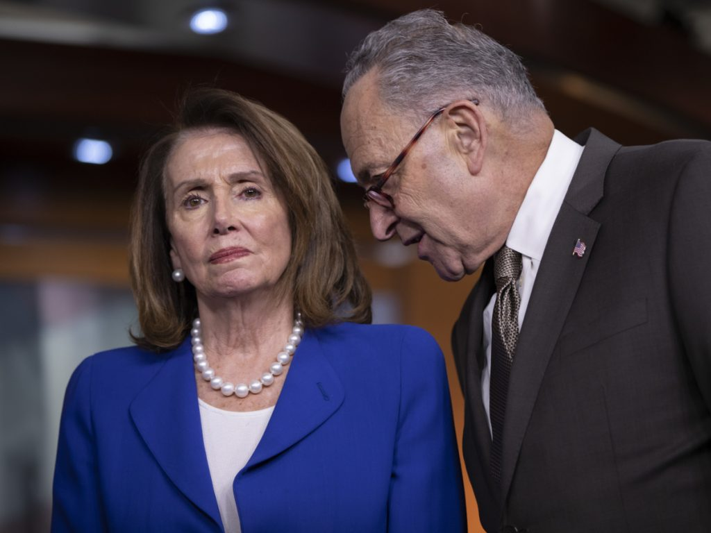 """House Minority Leader Nancy Pelosi, D-Calif., and Senate Minority Leader Chuck Schumer, D-N.Y., called Thursday for President Trump to take action to lower prescription drug prices. A majority of Americans say bringing down drug prices should be a """"top priority"""" for Trump and Congress."""
