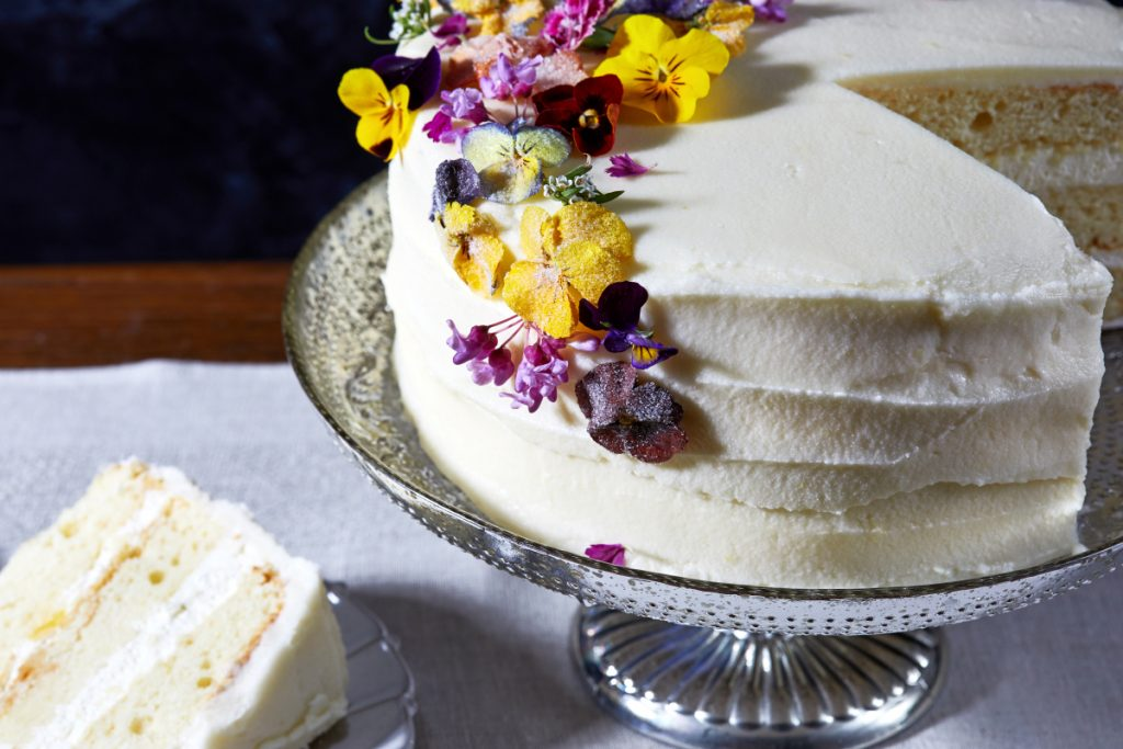 Lemon-elderflower cake based on a recipe from the owner of Violet bakery in London, which is baking the actual royal wedding cake.