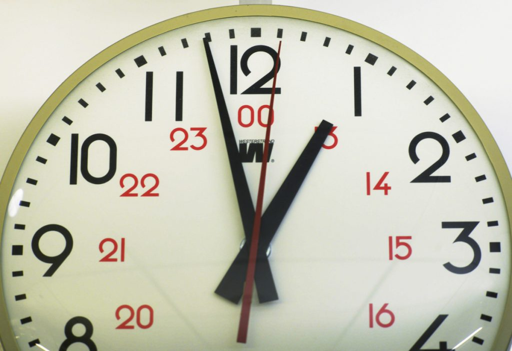 Electric clocks keep time based on the usually stable pulses of the electric current that powers them.