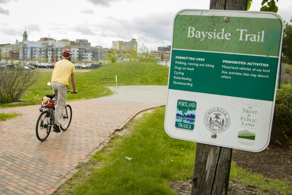 """Matt Hock, who was riding a bike Sunday on Bayside Trail and uses the path frequently, didn't have a strong opinion about renaming the trail to honor Martin Luther King Jr. """"I am fine with it,"""" he said."""