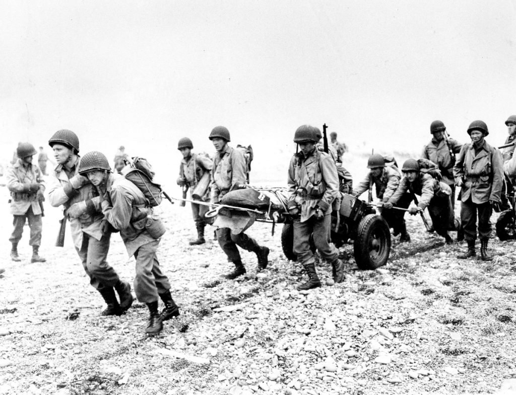 U.S. Army reinforcements land on a beach on Attu Island, part of the Aleutian Islands of Alaska, in 1943 during World War II. This Wednesday will mark the 75th anniversary of American troops recapturing Attu Island from Japanese forces.