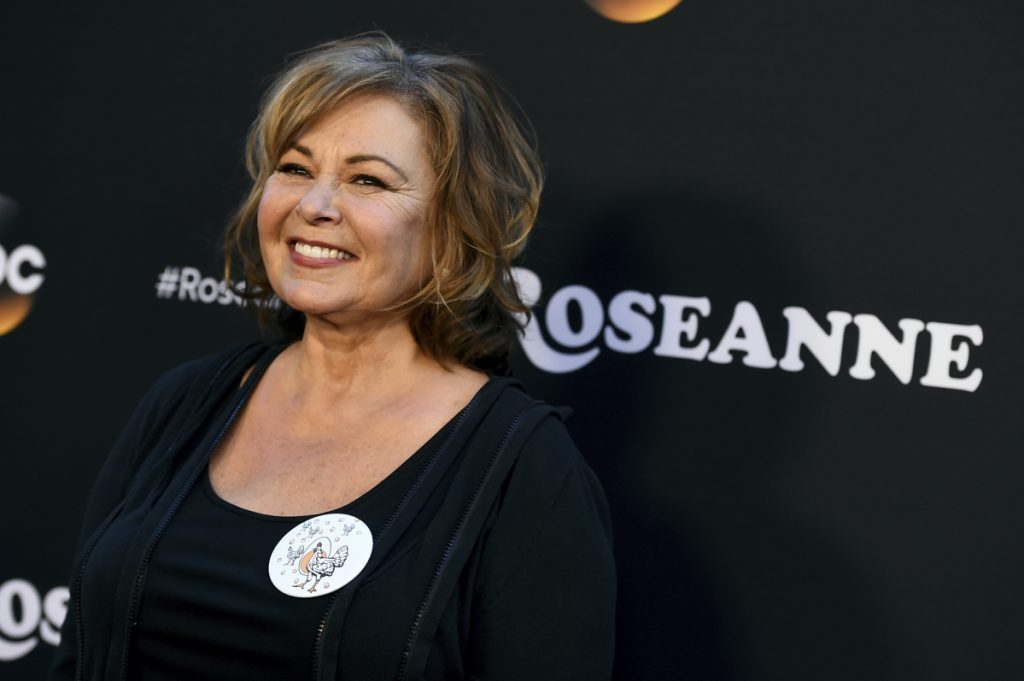 """Roseanne Barr has apologized for suggesting that former White House adviser Valerie Jarrett is a product of the Muslim Brotherhood and the """"Planet of the Apes."""""""
