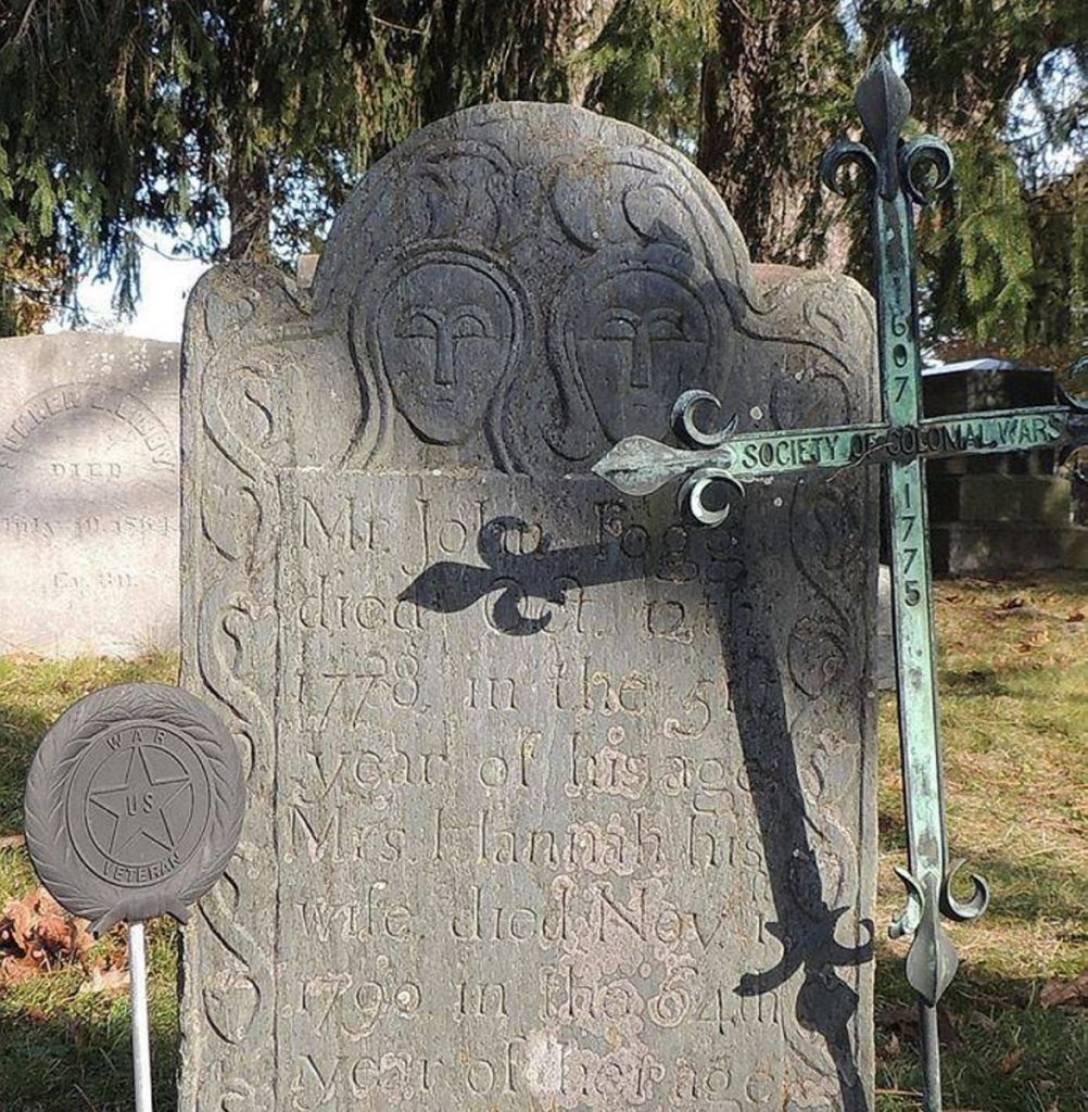 This war marker was stolen from a grave at Scarborough's Black Point Cemetery