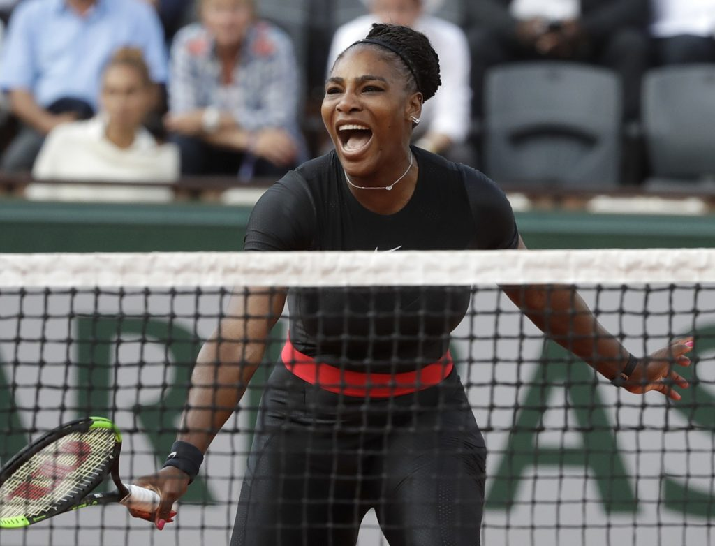 It was the Serena Williams of old at the French Open on Thursday. After falling behind to Australia's Ashleigh Barty, Williams showed the emotion and competitive spirit she's known for and beat Barty 3-6, 6-3, 6-4.