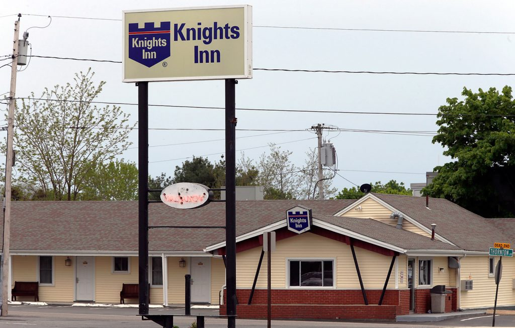 The Knights Inn on Route 1 in South Portland