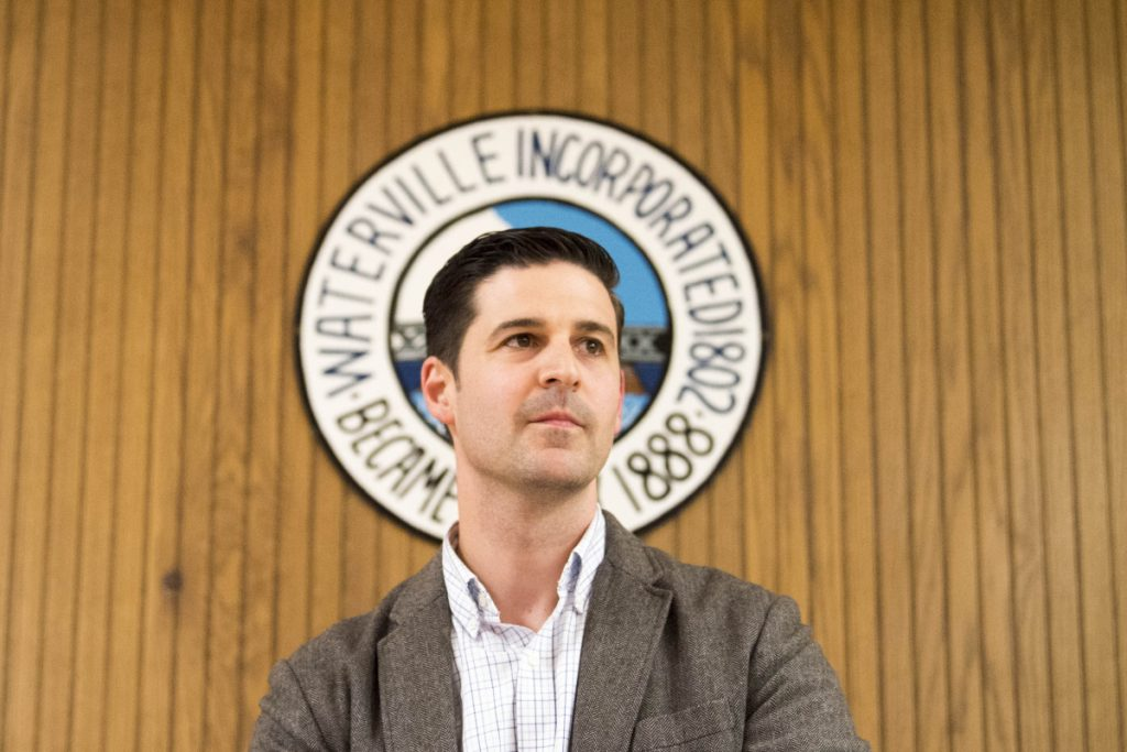 Mayor Nick Isgro opens the floor to public comments Tuesday evening, May 1, at the beginning of a City Council meeting in the council chambers at The Center in Waterville.