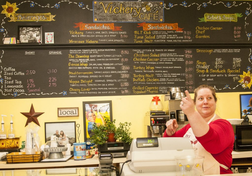 Vickery Cafe owner Colleen Carey said she learned the small cafe won't be able to remain at its 261 Water St. spot beyond the end of June amid plans by the building's new owner to renovate the building in downtown Augusta.
