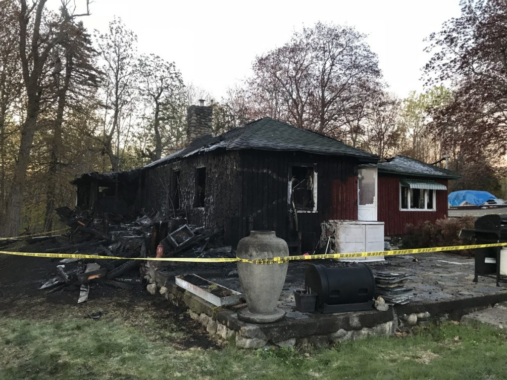 The Office of State Fire Marshal is expected to investigate on Monday a fire that turned this home at 1834 Riverside Drive in Vassalboro, seen Saturday morning, into a ruined shell.