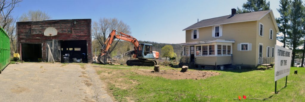 Work is underway Tuesday at the site of the future Farmingdale Fire Station at 571 Maine Ave., where officials hope a new headquarters will be ready as soon as a year from now.