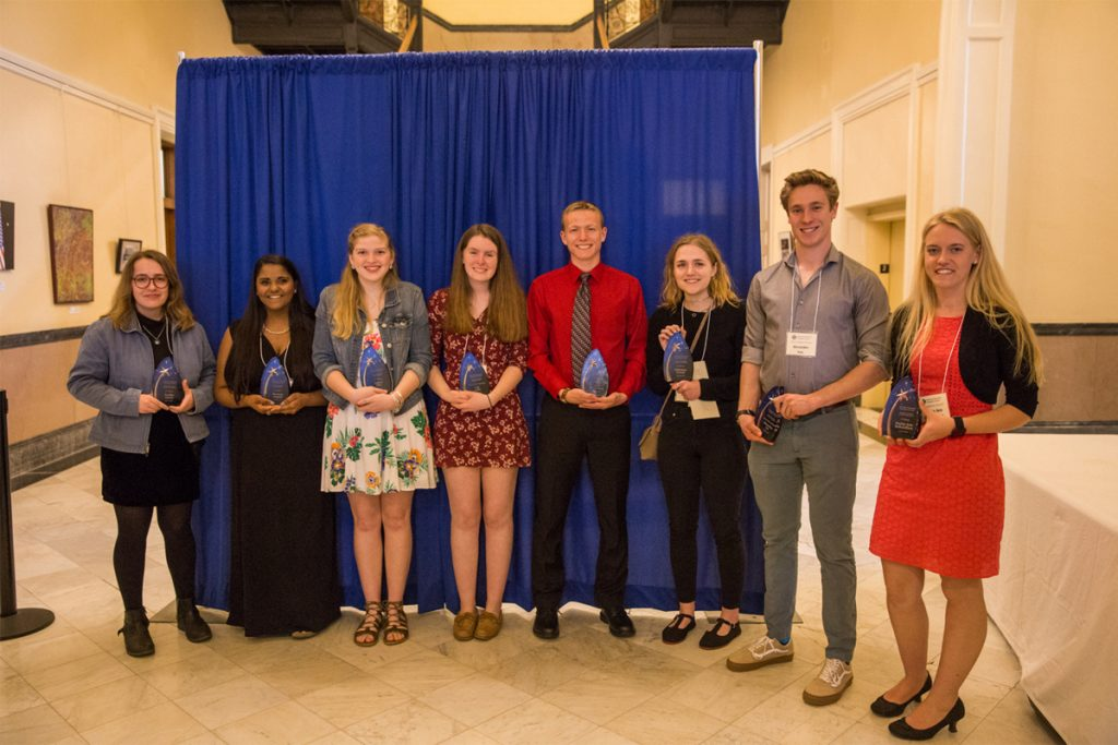 Photo courtesy of Jessical GortonThe students honored at this year's Inclusion Ceremony, from left, were Corilie Green, Raveena Angotti, Taylor Files, Lily Goltz, Caleb Richardson, McKenna Troast, Alexander Les and Sophia DeSchiffart.