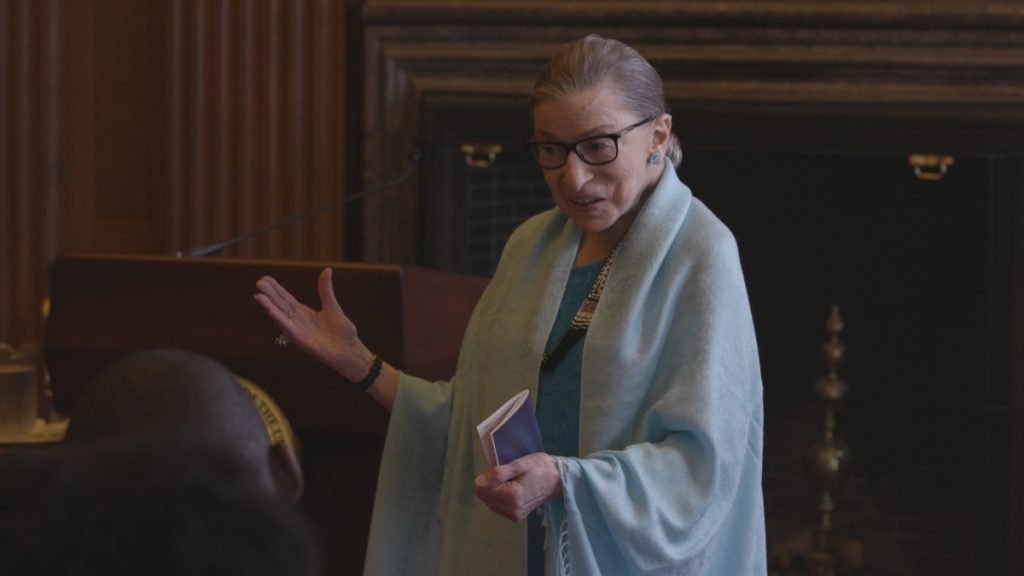 "Ruth Bader Ginsburg is a scene from ""RBG."""
