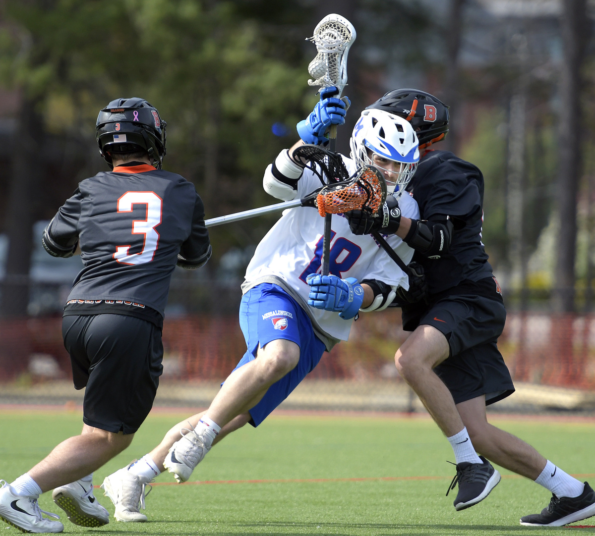 Brunswick Boys Lacrosse Strikes Late To Down Messalonskee