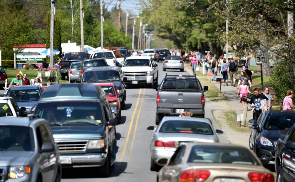 It's often bumper-to-bumper in Skowhegan during the annual 10 Mile Yard Sale down West Ridge Road in Cornville, all the way to U.S. Route 2 in Skowhegan.