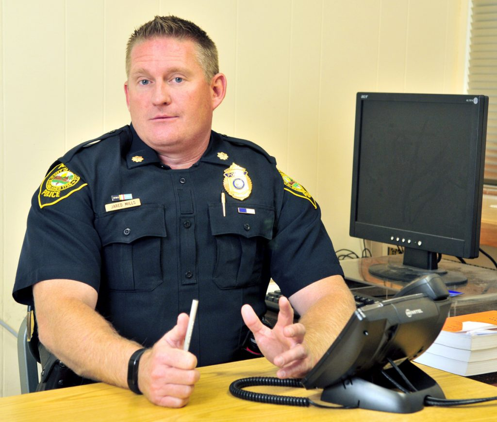 Augusta Deputy Police Chief Jared Mills talks about translation services during interview on Nov. 2, 2017, in the Augusta Police station. Mills has been confirmed as August'a next chief of police, following in the footsteps of Chief Robert Gregoire.